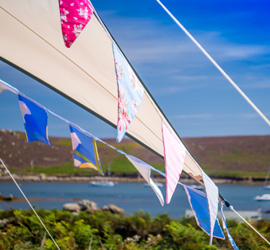 Bryher Campsite Bunting