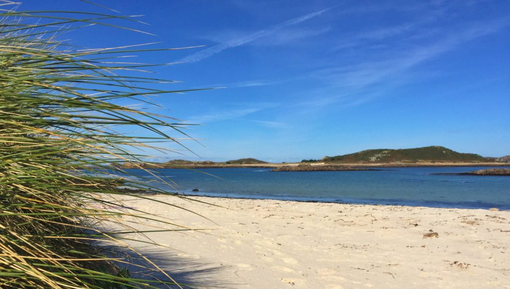 White sand beach on Samson Isles of Scilly