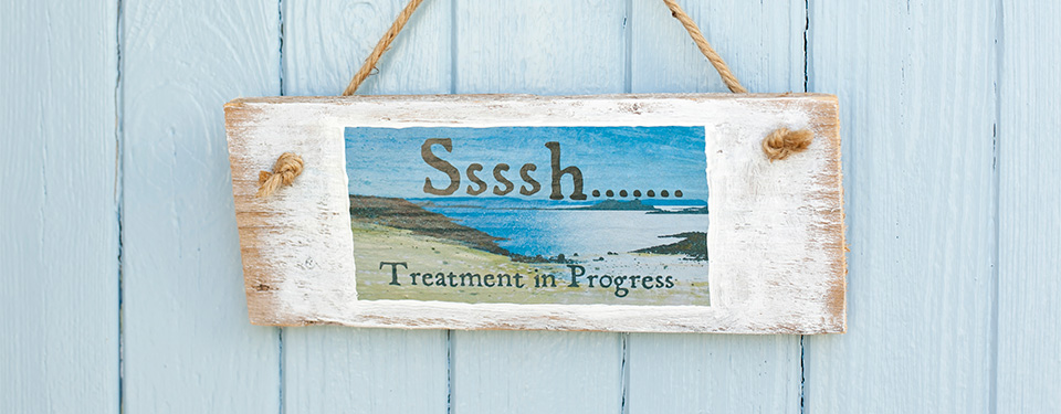 The spa treatment room at Hell Bay Hotel on Bryher Isles of Scilly