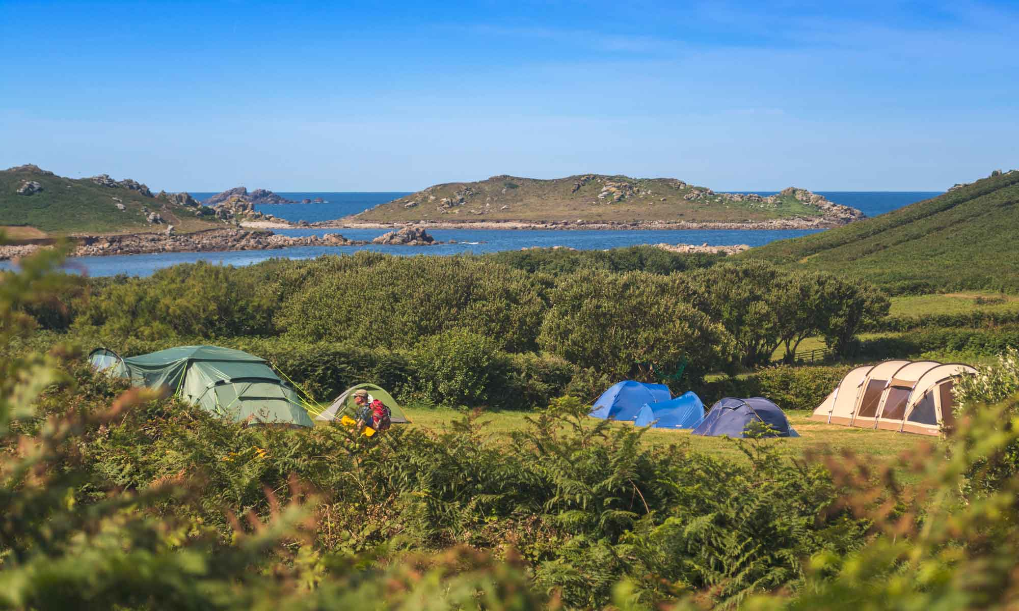 Bryher Campsite Isles of Scilly Camping