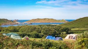 Looking west towards the Atlantic from Bryher Campsite