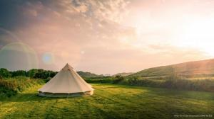 Bell Tent on Bryher Campsite